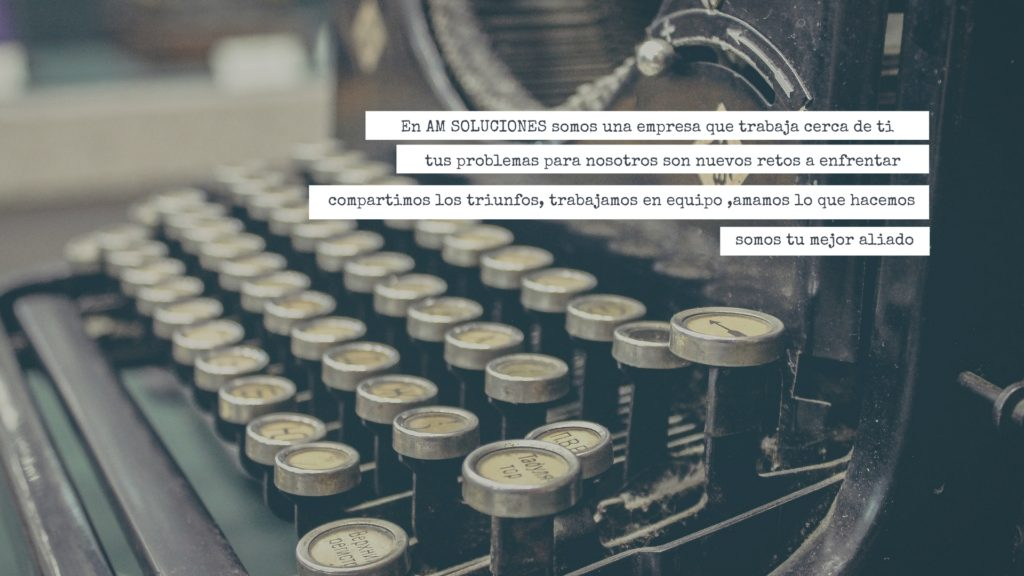 Vintage Typewriter Quote Desktop Wallpaper